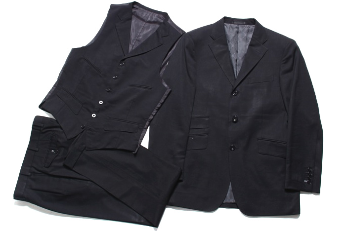 パーティに最適。3ピーススーツ(ブラック)