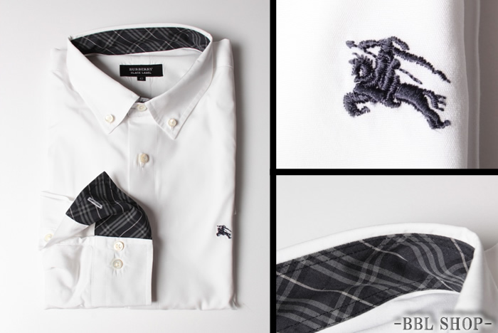 ロゴ刺繍ボタンダウンシャツ