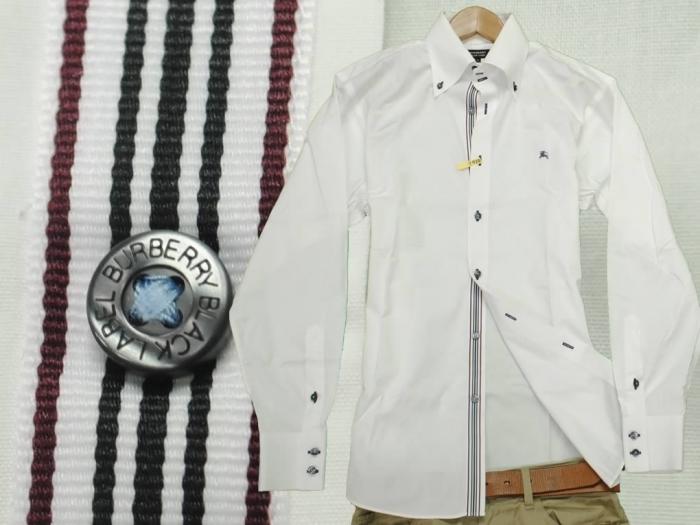 前立てライン長袖シャツ