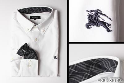 チェックデザインホワイトシャツ