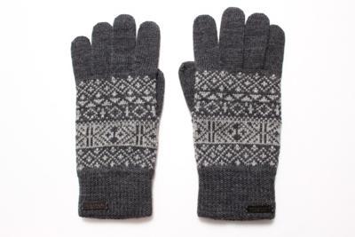 フェアアイル柄ニット手袋